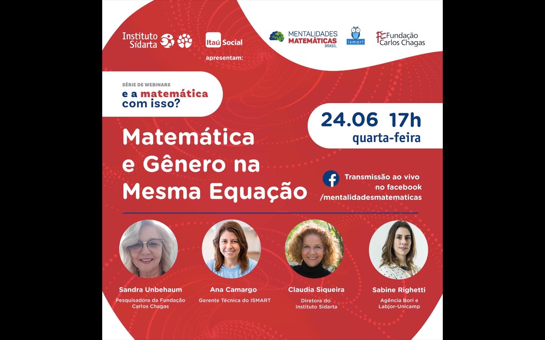 Webinar do Instituto Sidarta debate relação entre gênero e matemática