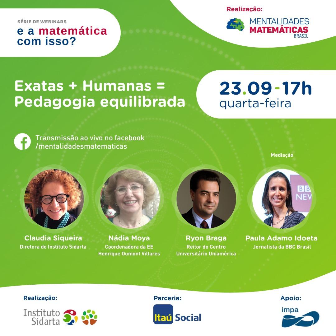 Webinar discute a formação dos professores em matemática na quarta-feira (23)