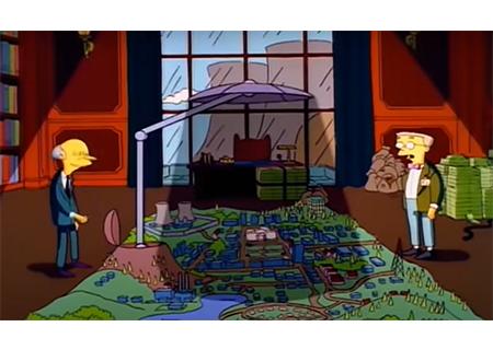 Cena Simpsons bloqueador solar